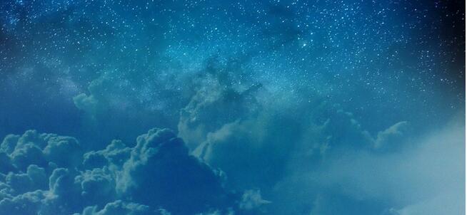 地球大气 云朵 星辰