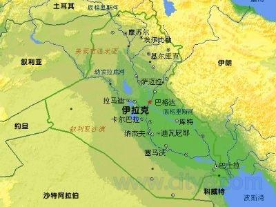 人学研究网 人类通史 两河流域 伊拉克地图