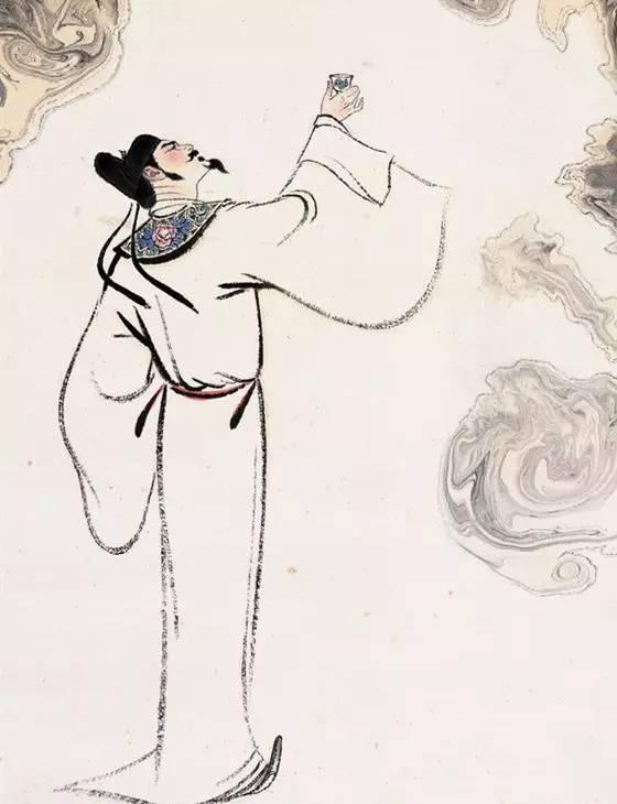 人学研究网 中华典艺 酒栏目 李白举杯邀明月图